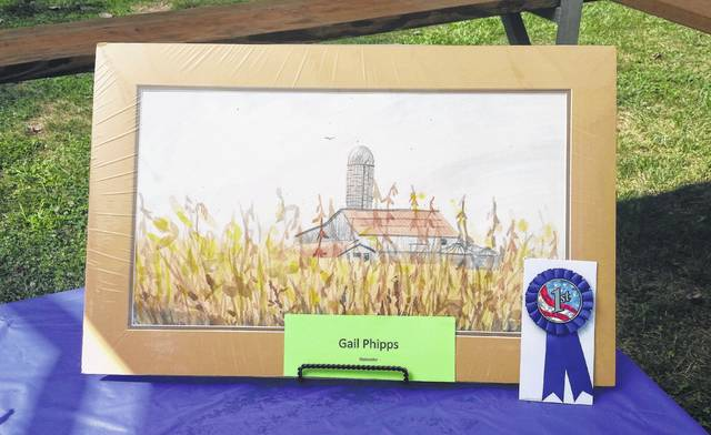 First place in the Corn Art Exhibit went to Gail Phipps.