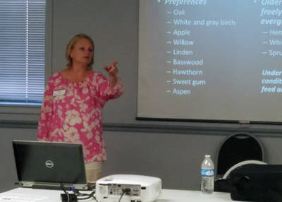 Amy Stone of the OSU Extension office in Lucas County gives information about the gypsy moth.