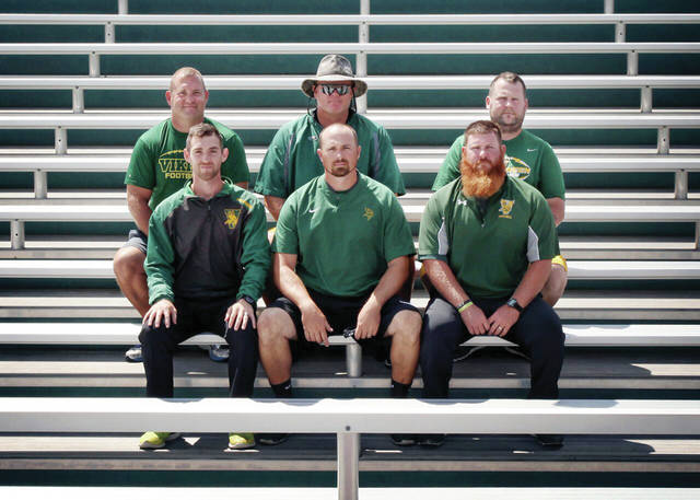 The 2017 Evergreen coaching staff.