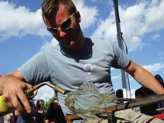 Free glassblowing demonstrations will be held at the Fulton County Fair.