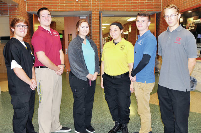 Four County Career Center has selected the 2017-18 Student Council members. The group sponsors the Christmas For Kids fund raiser, the Spring dance, and the paper recycling program at the center. Students from Fulton County include, from left, Gibson Burkholder of Archbold, Brian Ball of Archbold, Kaleigh Morgan of Liberty Center, Emilee Campbell of Archbold, Sage Marshall of Wauseon, and Andrew Louy of Evergreen. Not pictured: Lauren Day of Evergreen.
