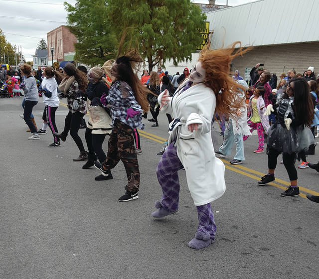"""The annual Halloween Hoopla was held in Swanton on Saturday with food, activities for kids, and entertainment from the Daryl Jervis Dance Studio dancers, above, who performed to Michael Jackson's """"Thriller."""""""