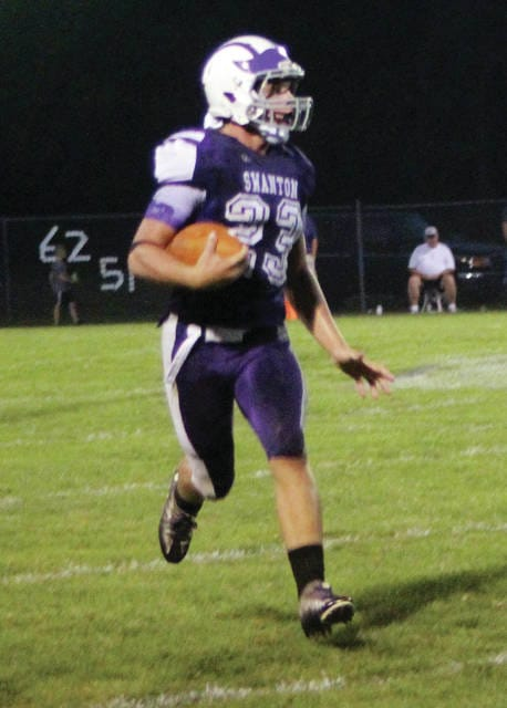 Michael Lawniczak, above, had a touchdown pass and Dylan Gilsdorf had two touchdown passes for Swanton in their win over Patrick Henry on Friday.