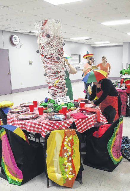 The annual Table Settings fundraiser was held Sunday at the Swanton American Legion. The fundraiser benefits the Backpack Buddies program and features themed tables, such as the Cloudy with a Chance of Meatballs table above.