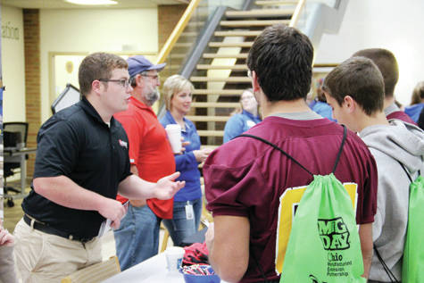 Ben Bowes of Automatic Feed in Napoleon spoke with area high school students about how a good education can lead to great career opportunities in northwest Ohio at Manufacturing Day 2017, recently held at Northwest State Community College in Archbold.