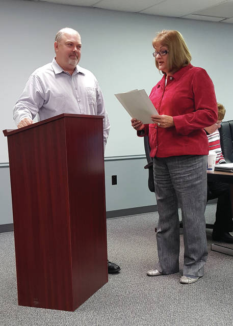 Councilman and Swanton Rotary Club President Craig Rose represented the Swanton Rotary Club as Mayor Ann Roth read a proclamation recognizing the club's 55th anniversary.
