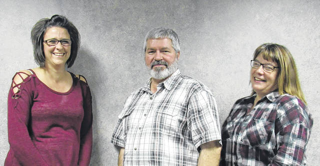 Recognized for 20 years of service were, from left, Brittanie Ledyard, Terry Kovar and Jean Kovar.
