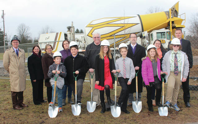 Groundbreakings were held for additions to Park, above, and Crestwood schools.