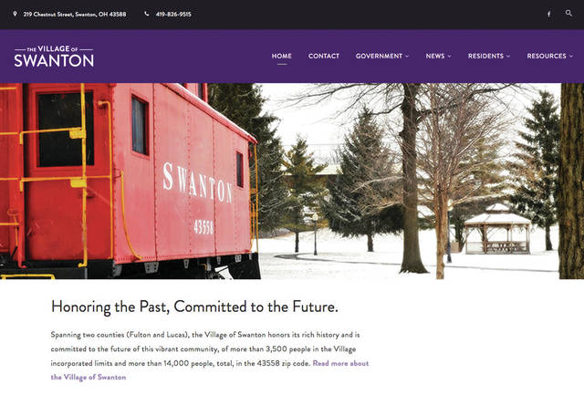 The new Swanton website is designed to improve information distribution.