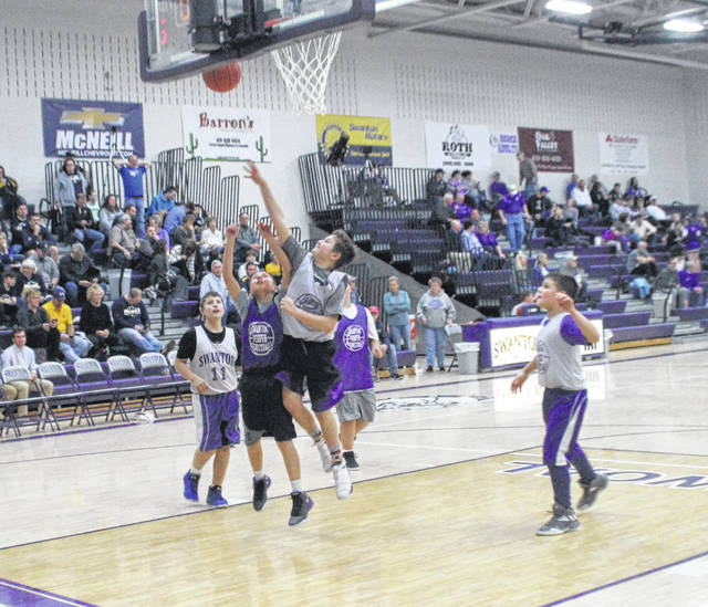 Some young Swanton basketball players got a taste of the big stage on Thursday night in Kevin McQuade Gymnasium. Swanton Recreation teams took to the court against each other during halftime of the boys varsity game against Archbold.