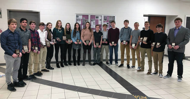 Regional placers from Swanton were, from left, Chase Moore, Ronnie Marshadah, Zack Schaller, Trevor Schaller, Hannah Grabke, Haiden Gombash, Sidney Taylor, Haley Nelson, Cydney Christensen, Weston Miller, Wyatt Lake, Dominic Domitio, Zack Bloom, Anthony Howard, Tanner Callicotte, Seth Rains, and Isaac Thomas.