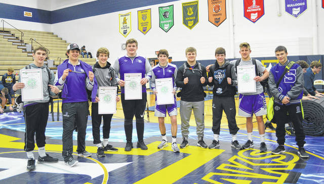 Swanton wrestling had nine wrestlers advance out of the Division III Archbold sectional Saturday. Those qualifying were Ryan Marvin (160), Crew Oberheim (195), Chase Moore (152), Tommy Lytle (285), Zach Schaller (120), Zack Leahey (170), Trevor Schaller (126), Mitchell Reisinger (182) and Ethan Branum (132).