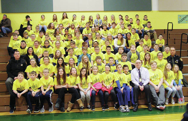 Evergreen Middle School D.A.R.E. class.
