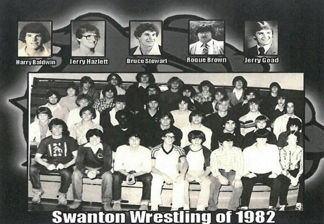 The 1981-82 Swanton wrestling team.