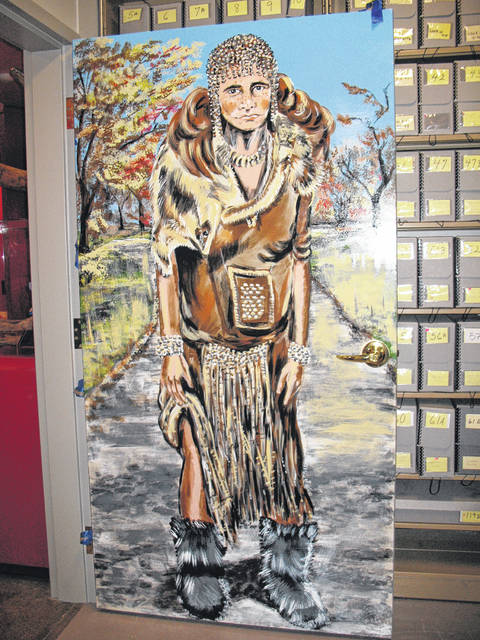A Neanderthal woman painted by Swanton artist Nannette Sturtevant will be on display at the Fulton County Museum.