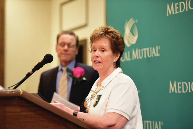 Beth Wyckoff was honored at the Northwest Ohio Outstanding Senior Volunteer Awards.