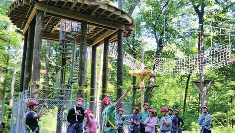 A new high ropes course opened at 4-H Camp Palmer in Fayette on June 6 during Science Camp. A ribbon cutting ceremony, course naming, and dedication to honor Chuck Wurth, a former 4-H camp staff member for 40 years who led the project, is scheduled Saturday, June 23.