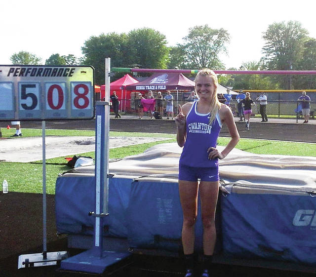 Julia Smith of Swanton after winning the regional competition at Tiffin last month.