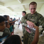 Swanton sailor passes out lunch in Guam