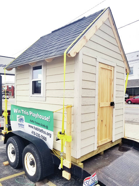 Habitat for Humanity of Fulton County will auction this custom-made playhouse.