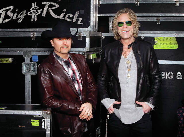 Big & Rich will perform on Labor Day at the Fulton County Fair.