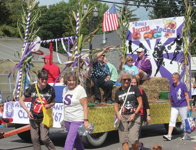 The Swanton High School Class of 1967 marches in last year's Corn Festival parade.